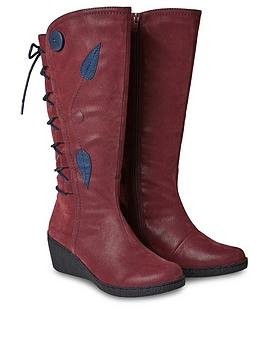 joe-browns-feeling-free-lace-back-boots-red