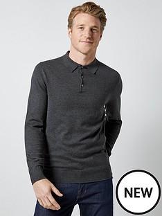 burton-menswear-london-burton-knitted-polo-top-grey