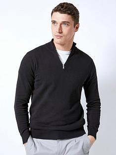 burton-menswear-london-burton-half-zip-knit-black