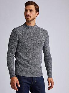 burton-menswear-london-burton-fisherman-salt-and-pepper-twist-knit-jumper-grey