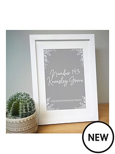 personalised-grey-home-a4-framed-print