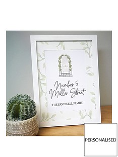 personalised-home-a4-framed-print