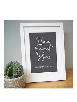 Very Personalised Home Sweet Home A4 Framed Print Picture