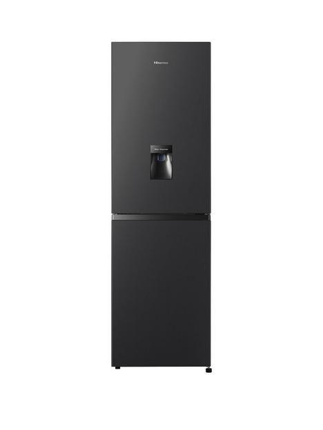 hisense-rb327n4wb1-55cm-wide-total-no-frost-fridge-freezer-black
