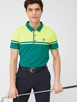 Lyle & Scott Golf Lyle & Scott Golf Croft Polo - Teal/Green Picture