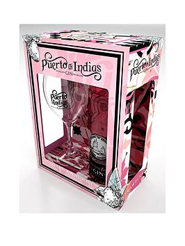 Very Puerto De Indias Strawberry Gin 70Cl Gift Pack Picture
