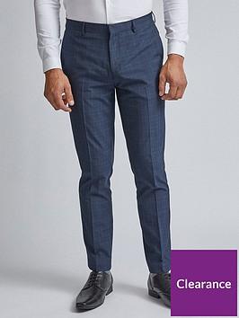 burton-menswear-london-burton-fine-check-trousers-blue