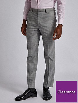 burton-menswear-london-burton-mini-check-trousers-grey