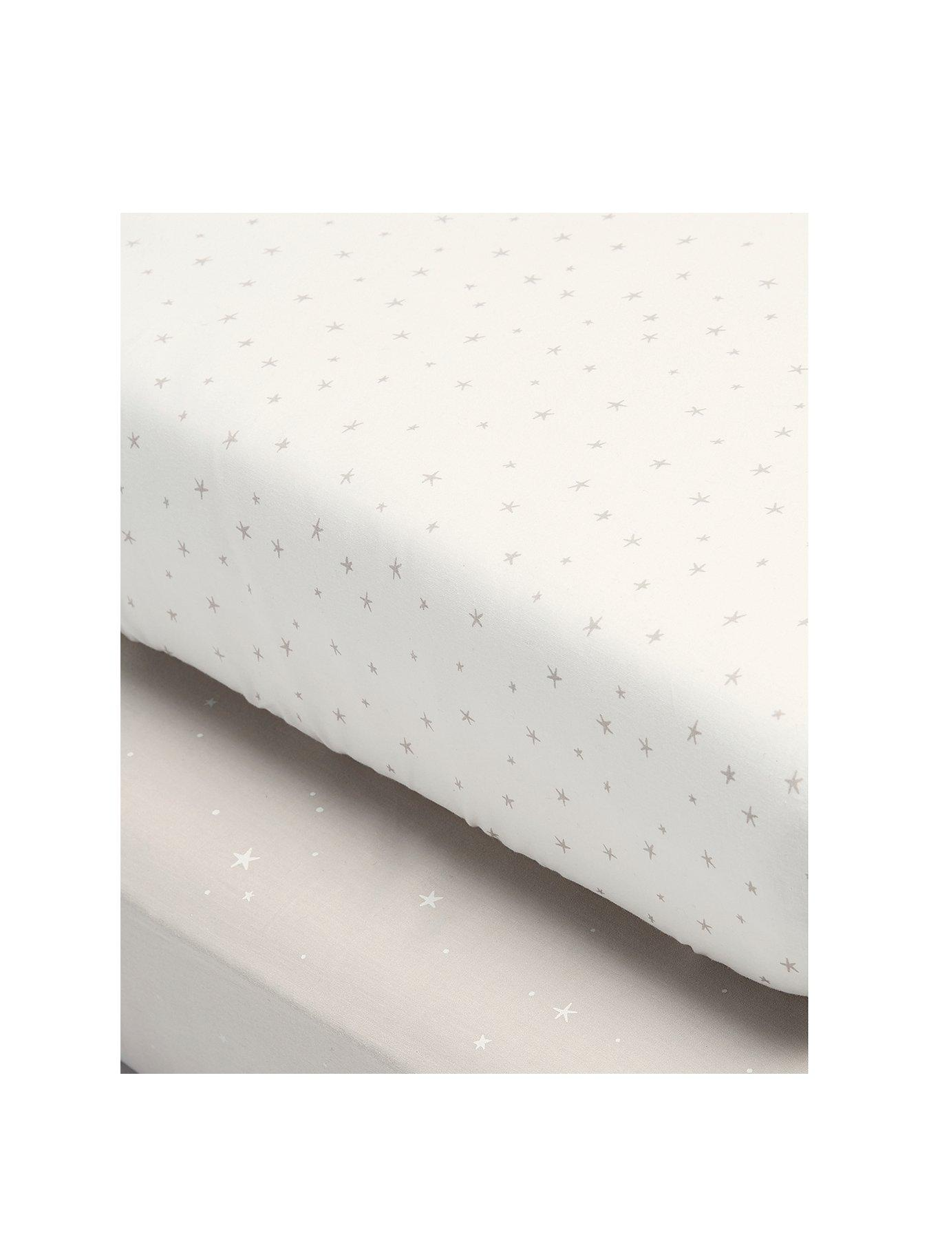Mamas /& Papas Luxury Baby Nappy Changing Mattress with Machine Washable Cover /& Detachable Pillow Welcome to the World