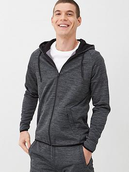 V by Very V By Very Textured Zip Through Hoodie - Charcoal Picture