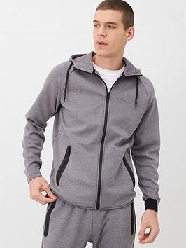 V by Very V By Very Textured Zip Through Hoodie - Grey Picture