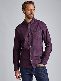burton-menswear-london-burton-long-sleeve-mini-check-shirt-burgundy