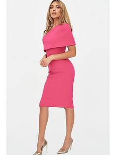 lavish-alice-one-shoulder-cape-dress-pink