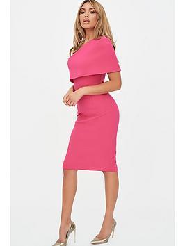 Lavish Alice Lavish Alice One Shoulder Cape Dress - Pink Picture