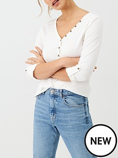 v-by-very-the-essential-34-henley-top-white