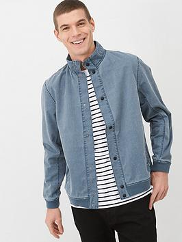 V by Very V By Very Funnel Neck Harrington Jacket - Blue Picture