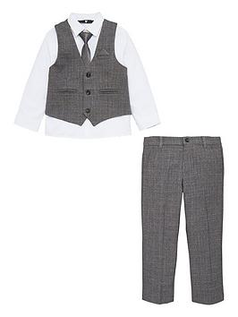 V By Very Boys Three Piece Suit - Grey