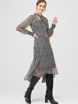 V by Very V By Very Printed Midi Dress - Mono Print Picture