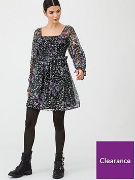v-by-very-georgette-shirred-tea-dress-floral