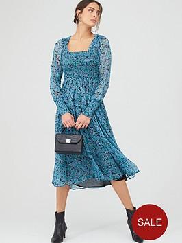 v-by-very-woven-shirred-midi-dress-ndash-ditsy-floral