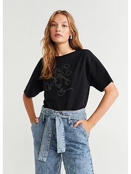 mango-embellishednbspmickey-mouse-top-black