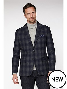 jeff-banks-jeff-banks-fade-check-blazer-in-tailored-fit