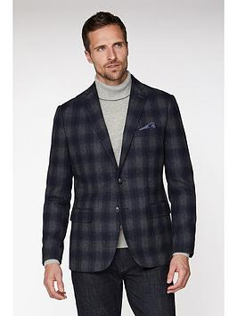 Jeff Banks Jeff Banks Jeff Banks Fade Check Blazer In Tailored Fit Picture