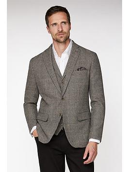Jeff Banks Jeff Banks Jeff Banks Heritage Dogstooth Blazer In Tailored Fit Picture