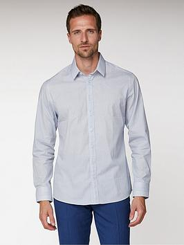 Jeff Banks Jeff Banks Micro Paisley Print Tailored Fit Shirt - White Picture
