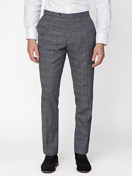 Jeff Banks   Jaspe Check Soho Suit Trousers - Grey