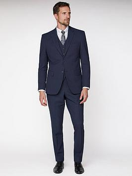 Jeff Banks Jeff Banks Texture Travel Suit Jacket - Navy Picture