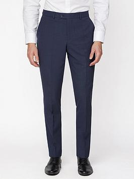 Jeff Banks    Texture Travel Suit Trousers In Regular Fit - Navy