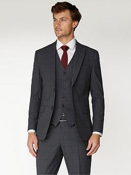 Jeff Banks Jeff Banks Windowpane Check Travel Suit Jacket In Regular Fit -  ... Picture