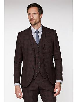 Jeff Banks Jeff Banks Jeff Banks Bold Check Brit Suit Jacket In Super Slim  ... Picture