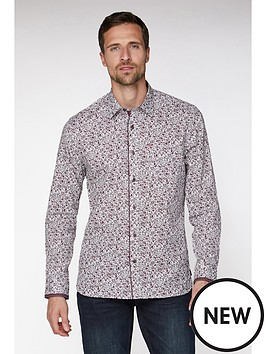 jeff-banks-jeff-banks-wine-floral-print-tailored-fit-shirt