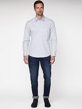 Jeff Banks Oval Dobby Tailored Fit Shirt - White