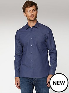 jeff-banks-jeff-banks-navy-micro-dobby-tailored-fit-shirt
