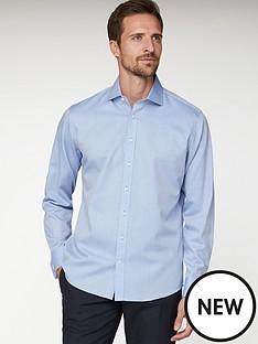 jeff-banks-jeff-banks-blue-herringbone-regular-fit-shirt