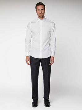 Jeff Banks Jeff Banks White Single Cuff York Cut Away Collar Shirt