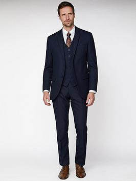 Jeff Banks Jeff Banks Jacquard Texture Soho Suit Jacket - Navy Picture