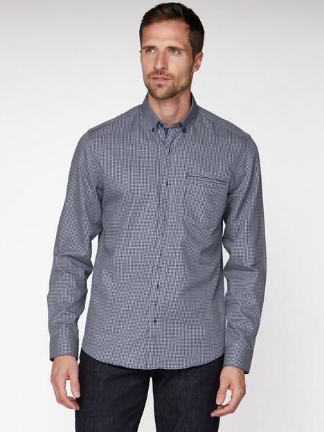 jeff-banks-jeff-banks-navy-arrow-gingham-tailored-fit-shirt