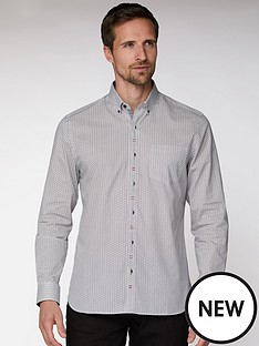 jeff-banks-jeff-banks-white-deco-floral-tailored-fit-shirt