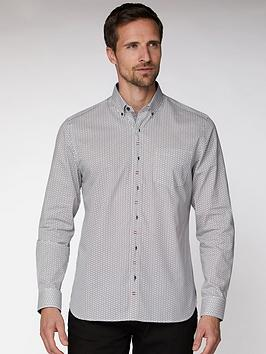 Jeff Banks Jeff Banks Jeff Banks White Deco Floral Tailored Fit Shirt Picture