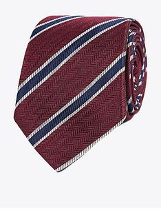 jeff-banks-jeff-banks-herringbone-stripe-silk-tie-wine