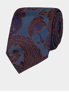 Jeff Banks Jeff Banks Bold Paisley Silk Tie - Teal Picture