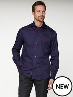 jeff-banks-jeff-banks-purple-floral-jacquard-tailored-fit-shirt