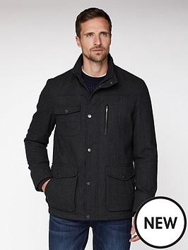 jeff-banks-jeff-banks-grey-wool-marl-4-pocket-utility-jacket-tailored-fit