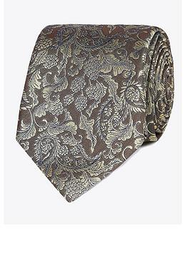 Jeff Banks Jeff Banks Baroque Silk Tie - Yellow Picture