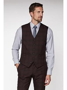jeff-banks-jeff-banks-bold-check-brit-waistcoat-in-suer-slim-fit-burgundy