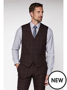 jeff-banks-jeff-banks-bold-check-brit-waistcoat-in-suer-slim-fit-burgundy